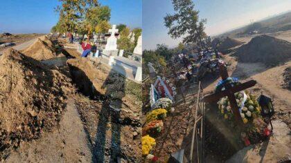 Imagini cutremuratoare din cimitirul orasului...